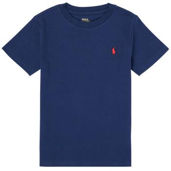 衣服 男孩 短袖体恤 Polo Ralph Lauren TINNA 海蓝色