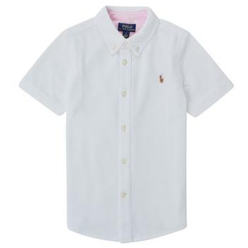衣服 男孩 短袖衬衫 Polo Ralph Lauren CAMISSA 白色