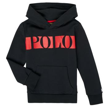 衣服 男孩 卫衣 Polo Ralph Lauren VOULLI 黑色