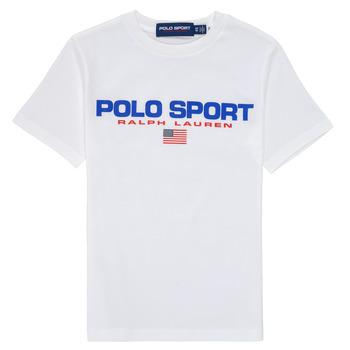 衣服 男孩 短袖体恤 Polo Ralph Lauren DRONI 白色