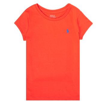 衣服 女孩 短袖体恤 Polo Ralph Lauren SIDONIE 红色