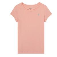 衣服 女孩 短袖体恤 Polo Ralph Lauren SIDONIE 玫瑰色
