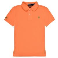 衣服 男孩 短袖保罗衫 Polo Ralph Lauren POLLIE 橙色