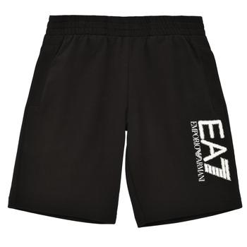 衣服 男孩 短裤&百慕大短裤 EA7 EMPORIO ARMANI 3KBS52-BJ05Z-1200 黑色