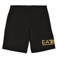 衣服 男孩 短裤&百慕大短裤 EA7 EMPORIO ARMANI 3KBS53-BJ05Z-1200 黑色 / 金色