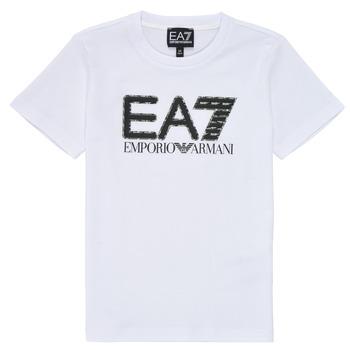 衣服 男孩 短袖体恤 EA7 EMPORIO ARMANI 3KBT53-BJ02Z-1100 白色