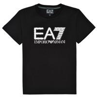 衣服 男孩 短袖体恤 EA7 EMPORIO ARMANI 3KBT53-BJ02Z-1200 黑色