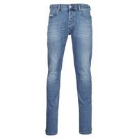 衣服 男士 紧身牛仔裤 Diesel 迪赛尔 D-LUSTER 蓝色 / 米色