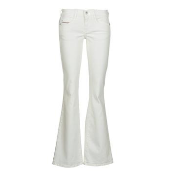 衣服 女士 喇叭牛仔裤 Diesel 迪赛尔 D-EBBEY 白色 / Cassé