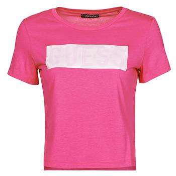 衣服 女士 短袖体恤 Guess SS CN ADRIA TEE 紫红色
