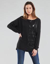 衣服 女士 长袖T恤 Guess LS KAROLINA TEE 黑色