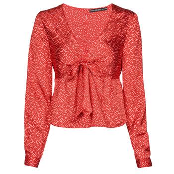 衣服 女士 女士上衣/罩衫 Guess NEW LS GWEN TOP 红色 / 白色