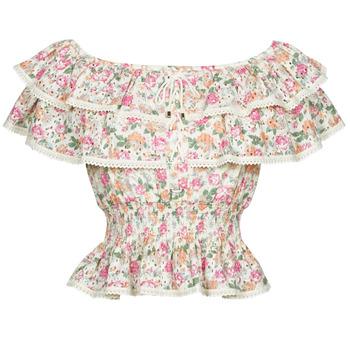 衣服 女士 女士上衣/罩衫 Guess SS NEW ISOTTA TOP 玫瑰色