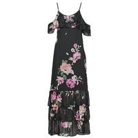 衣服 女士 长裙 Guess AGATHE DRESS 黑色 / 多彩