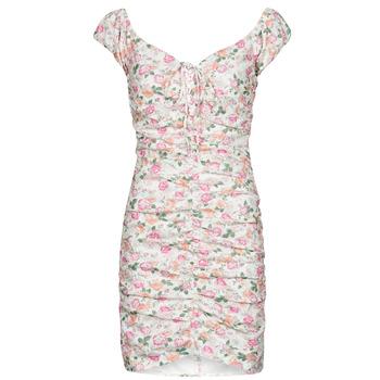 衣服 女士 短裙 Guess INGRID DRESS 玫瑰色 / 米色