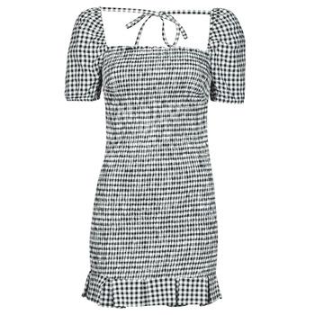 衣服 女士 短裙 Guess AIDA  DRESS 黑色 / 白色