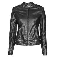 衣服 女士 皮夹克/ 人造皮革夹克 Guess NEW TAMMY JACKET 黑色