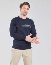 衣服 男士 羊毛衫 Guess LS CN LOGO 12 GG 海蓝色