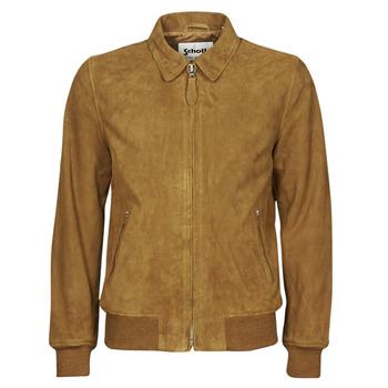 衣服 男士 皮夹克/ 人造皮革夹克 Schott LC YALES S 棕色