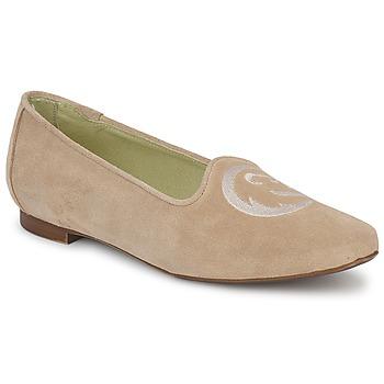 鞋子 女士 皮便鞋 Stephane Gontard CALK 米色
