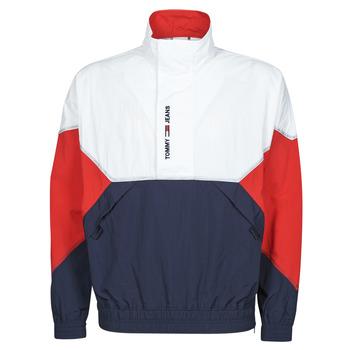 衣服 男士 夹克 Tommy Jeans TJM LIGHTWEIGHT POPOVER JACKET 白色 / 红色 / 海蓝色