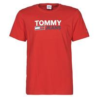 衣服 男士 短袖体恤 Tommy Jeans TJM CORP LOGO TEE 红色