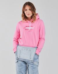 衣服 女士 卫衣 Tommy Jeans TJW CROPPED TOMMY FLAG HOODIE 玫瑰色