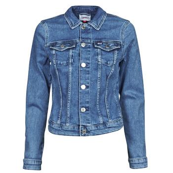 衣服 女士 牛仔外套 Tommy Jeans VIVIANNE SLIM DENIM TRUCKER NMBS 蓝色 / Edium