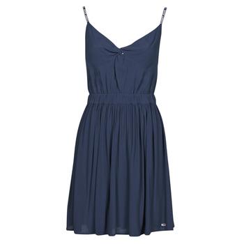 衣服 女士 短裙 Tommy Jeans TJW ESSENTIAL STRAP DRESS 海蓝色