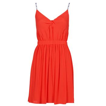 衣服 女士 短裙 Tommy Jeans TJW ESSENTIAL STRAP DRESS 红色