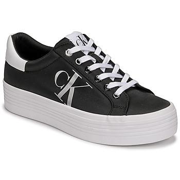 鞋子 女士 球鞋基本款 Calvin Klein Jeans VULCANIZED FLATFORM LACEUP NY 黑色