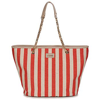 包 女士 购物袋 Liu Jo SICURA XL TOTE 米色 / 红色