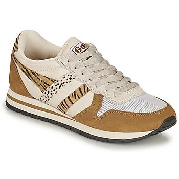 鞋子 女士 球鞋基本款 Gola DAYTONA SAFARI 斑马纹 / 驼色
