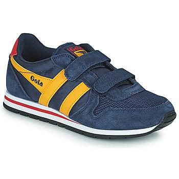 鞋子 儿童 球鞋基本款 Gola DAYTONA VELCRO 海蓝色 / 黄色