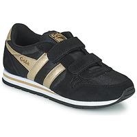 鞋子 女孩 球鞋基本款 Gola DAYTONA MIRROR VELCRO 黑色 / 金色