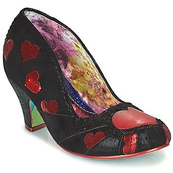 鞋子 女士 高跟鞋 Irregular Choice HEART ON YOUR SLEEVE 黑色