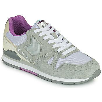 鞋子 女士 球鞋基本款 Hummel MARATHONA SUEDE 灰色 / 紫罗兰