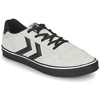 鞋子 男士 球鞋基本款 Hummel STADIL 3.0 SUEDE 米色 / 黑色