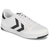 鞋子 男士 球鞋基本款 Hummel STADIL LIGHT CANVAS 白色