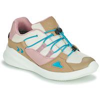 鞋子 儿童 球鞋基本款 Hummel BOUNCE RUNNER TEX JR 米色 / 玫瑰色