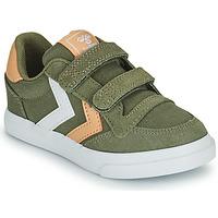 鞋子 儿童 球鞋基本款 Hummel STADIL LOW JR 绿色
