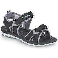 鞋子 儿童 运动凉鞋 Hummel SANDAL SPORT JR 黑色