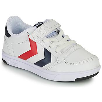 鞋子 儿童 球鞋基本款 Hummel STADIL LIGHT QUICK JR 白色