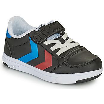 鞋子 儿童 球鞋基本款 Hummel STADIL LIGHT QUICK JR 黑色