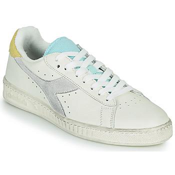 鞋子 女士 球鞋基本款 Diadora 迪亚多纳 GAME L LOW ICONA WN 白色 / 蓝色
