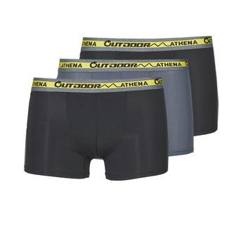 内衣  男士 拳击 Athena OUTDOOR RECYCLEE X3 黑色 / 灰色 / 黑色