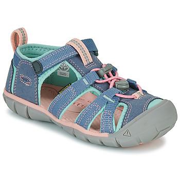 鞋子 女孩 运动凉鞋 Keen SEACAMP II CNX 灰色 / 玫瑰色