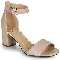 鞋子 女士 高跟鞋 Clarks 其乐 DEVA MAE 玫瑰色