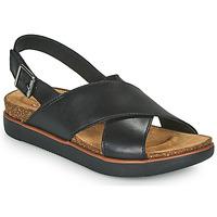 鞋子 女士 凉鞋 Clarks 其乐 ELAYNE CROSS 黑色