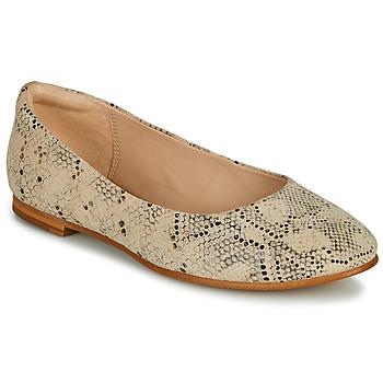 鞋子 女士 平底鞋 Clarks 其乐 GRACE PIPER 米色 / Python